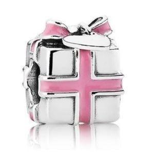 Pandora Pink Enamel Present Box Charm